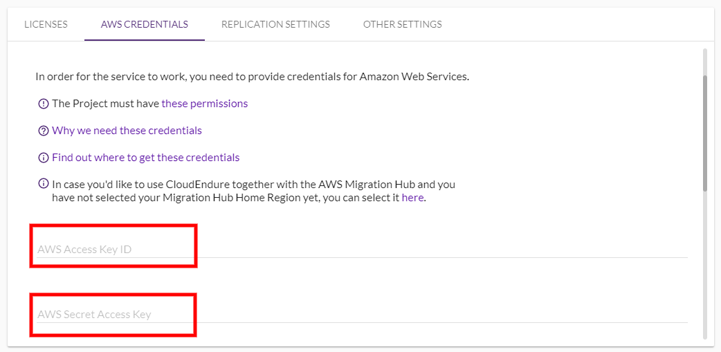 Using Your AWS Credentials