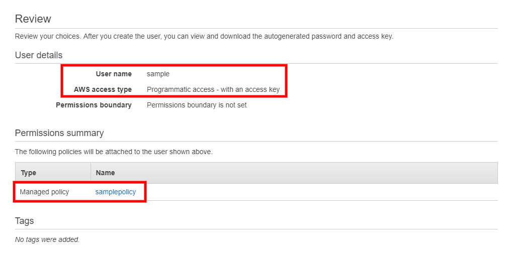 Generating the Required AWS Credentials